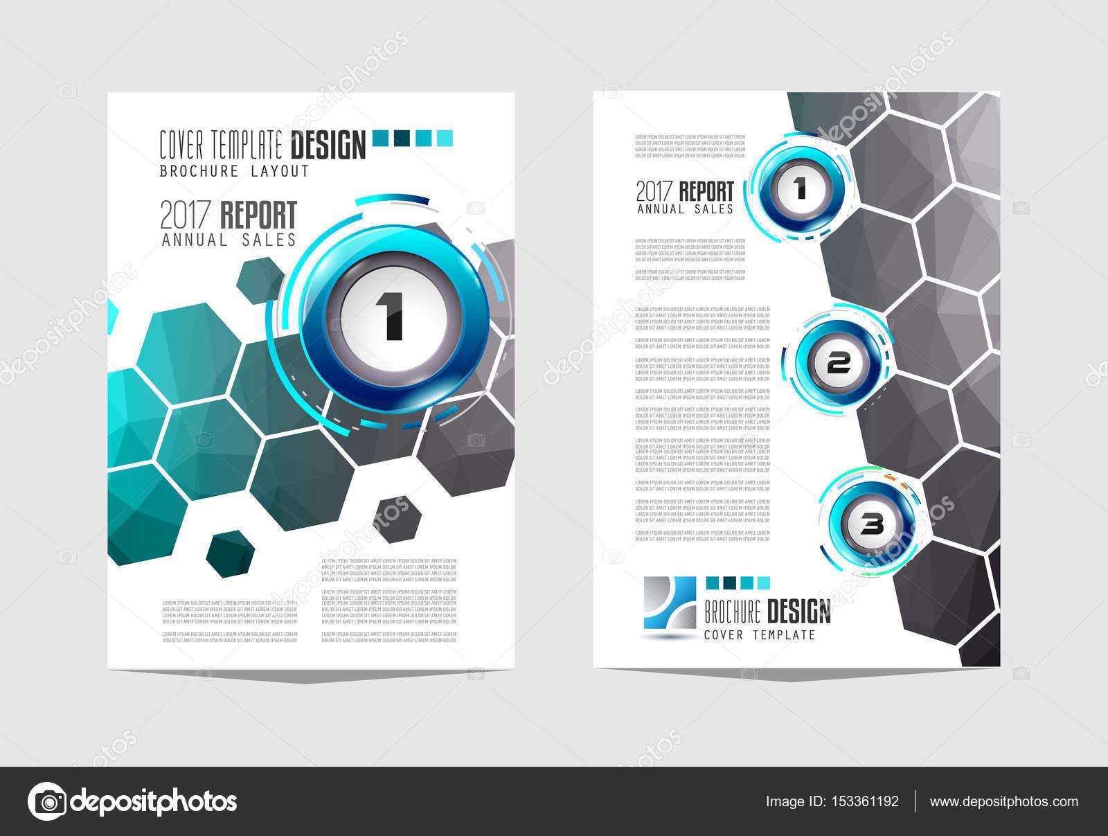Broschüre-Vorlage, Flyer Design — Stockvektor © DavidArts #153361192