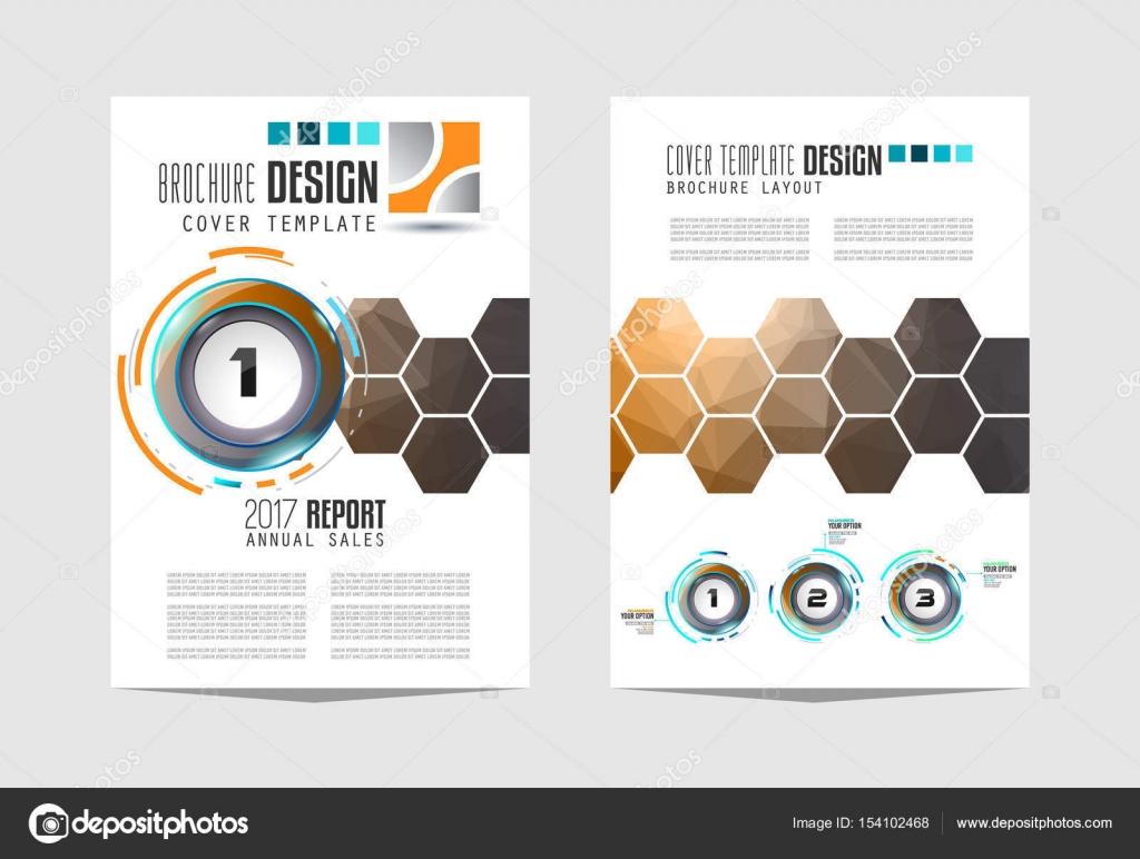 Broschüre-Vorlage, Flyer Design — Stockvektor © DavidArts #154102468