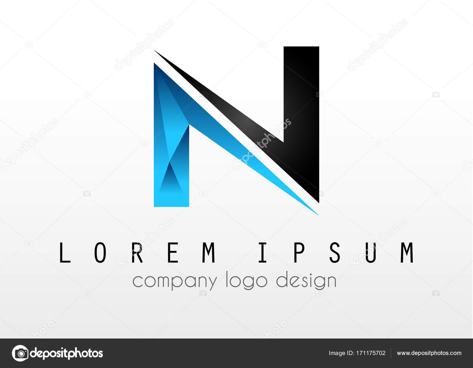 creative logo letter n design for brand identity company profile or corporate logos with clean elegant and modern style vector by davidarts