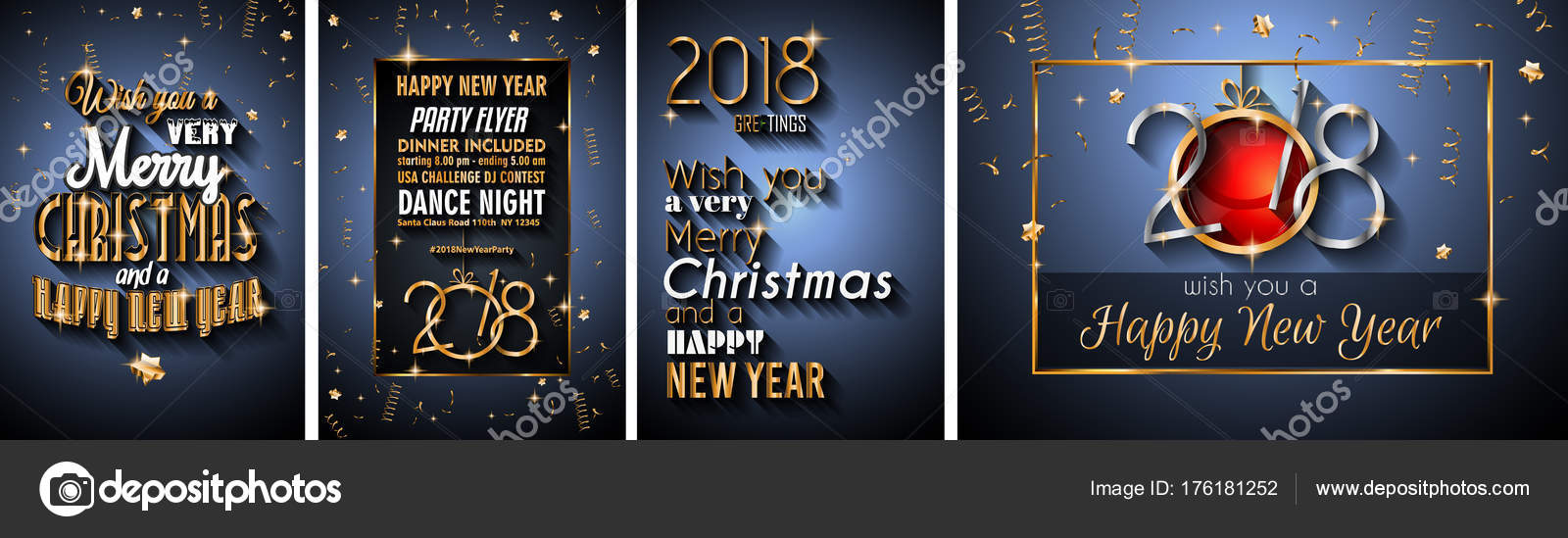 2018 happy new year background for your seasonal flyers and greetings card or christmas themed invitations vector by davidarts