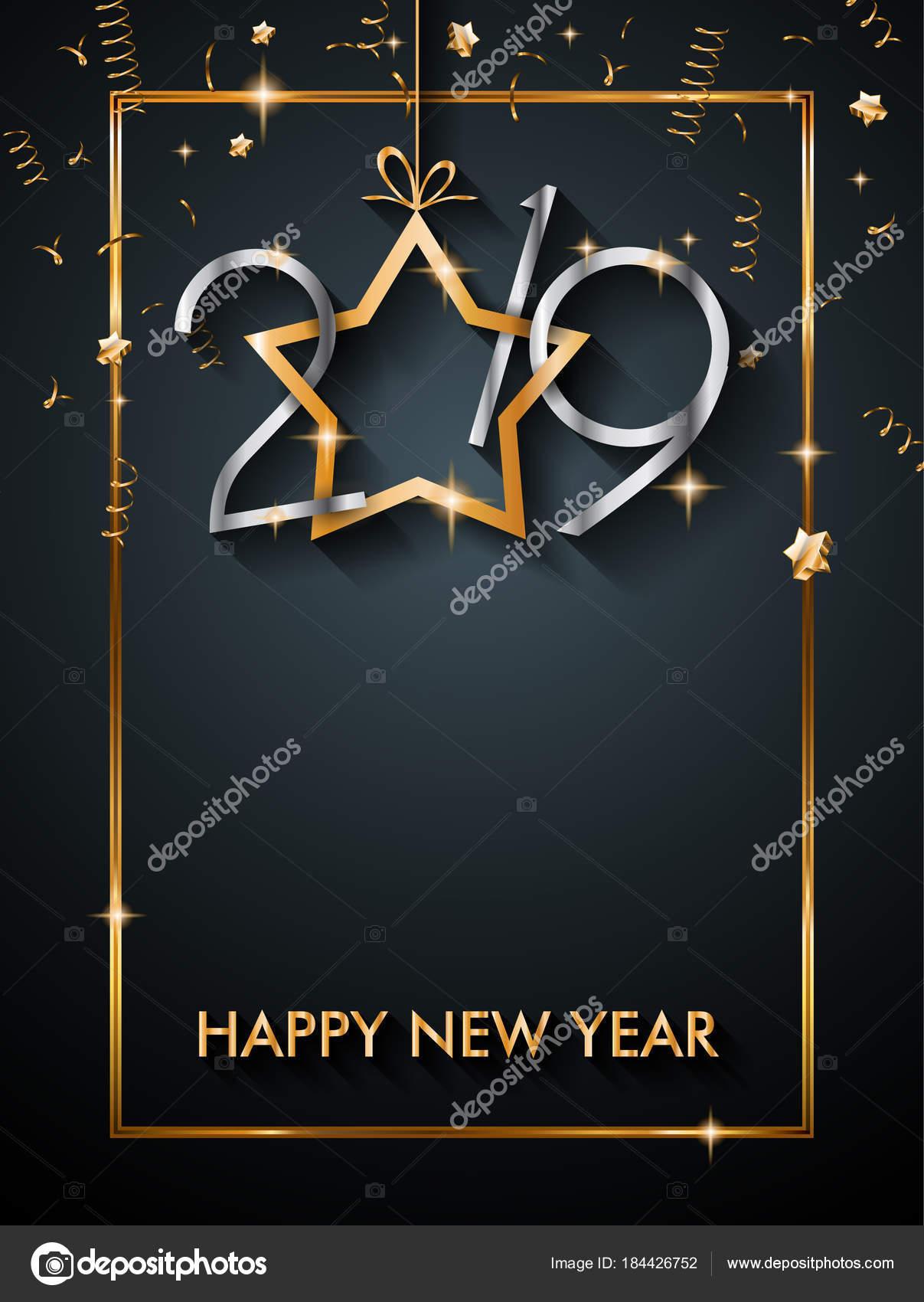 2019 Feliz Año Nuevo Fondo Para Tus Invitaciones Temáticas
