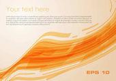 Vektorový pozadí abstraktní vlna obdélník v oranžové barvě