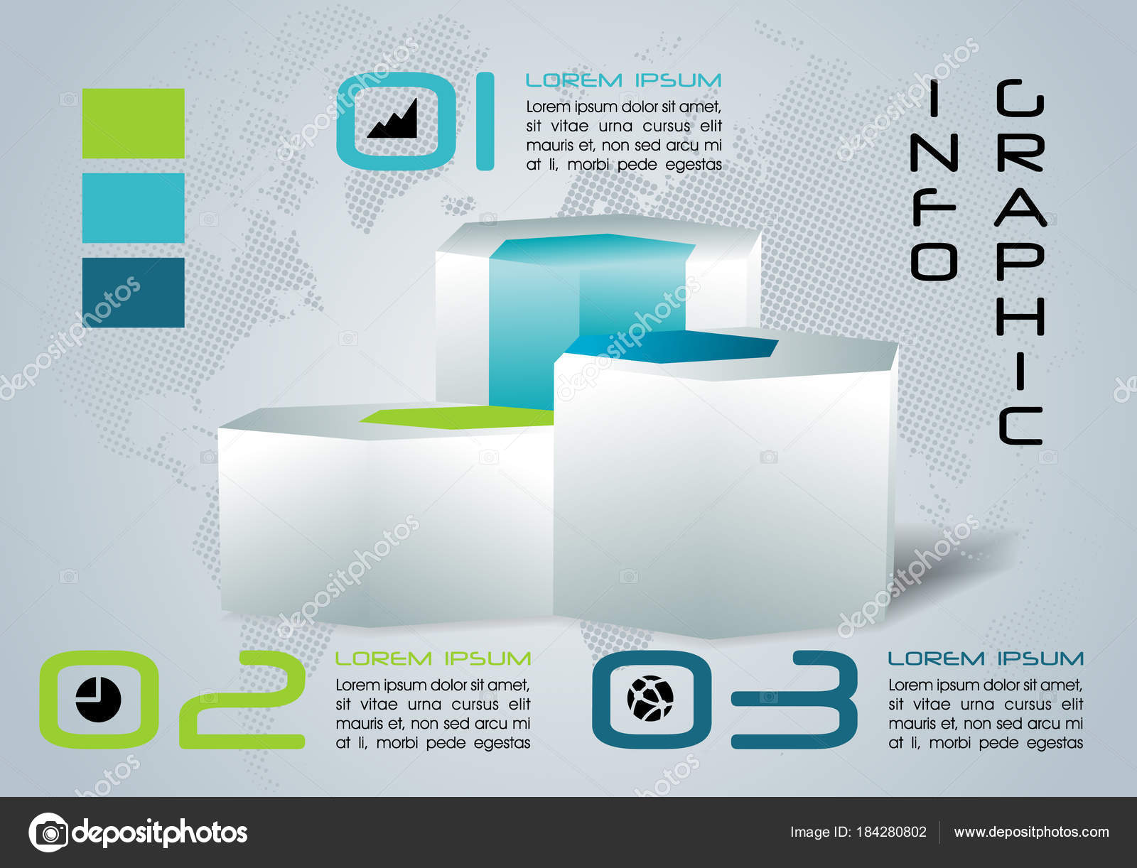 Modern Colorful Infographics Options Template Vector With 3d Hex