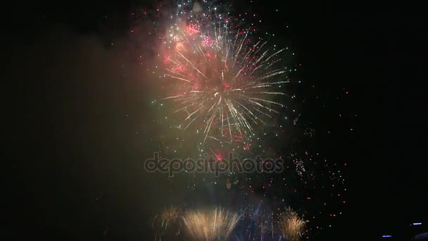 High Definition Movie Of New Yearu0027s Eve Festive Firework Show Celebration  At Night 1080p Hd U2014