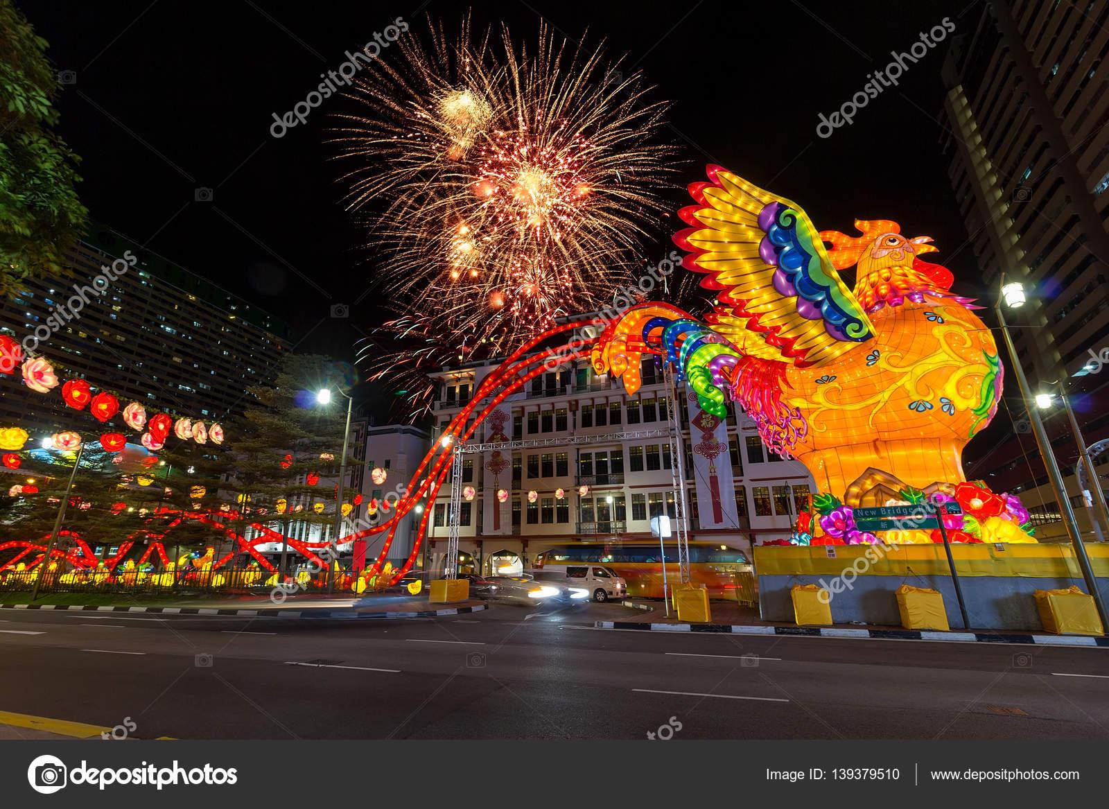 singapore chinatown 2017 chinese new year fireworks stock photo 139379510 - Chinese New Year Fireworks