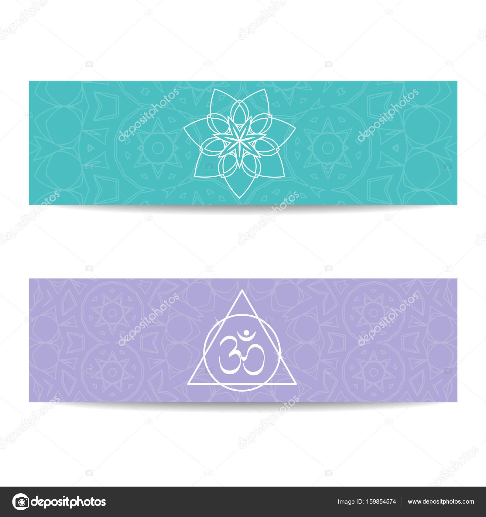 Banner de plantilla de clase y estudio de yoga — Archivo Imágenes ...