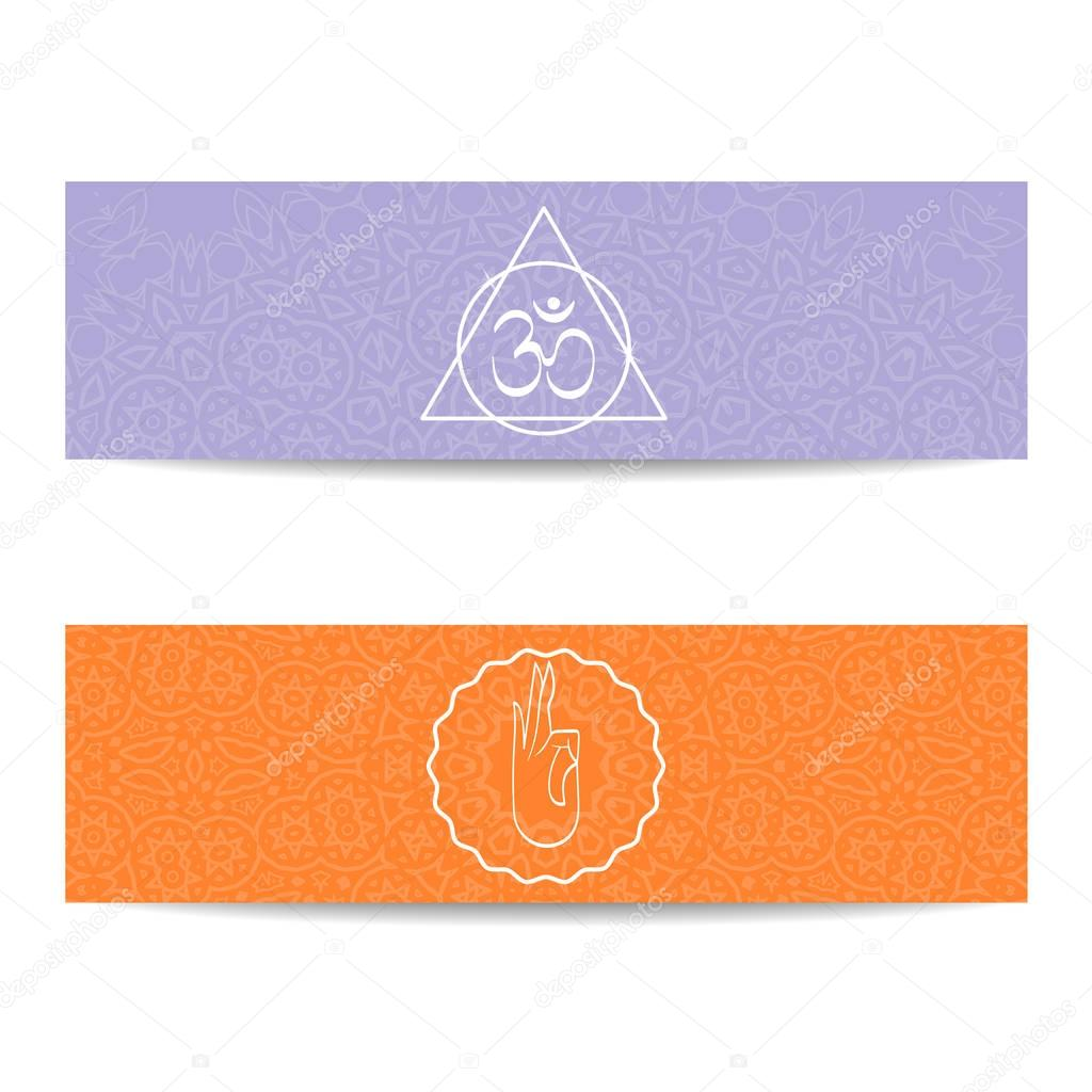 Yoga class and studio template banner