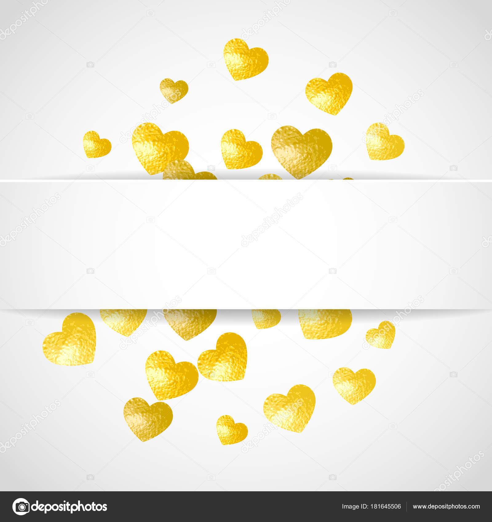 a8ebecf93 Alla hjärtans papper ram med guld glitter hjärtan. Februari 14: e ...