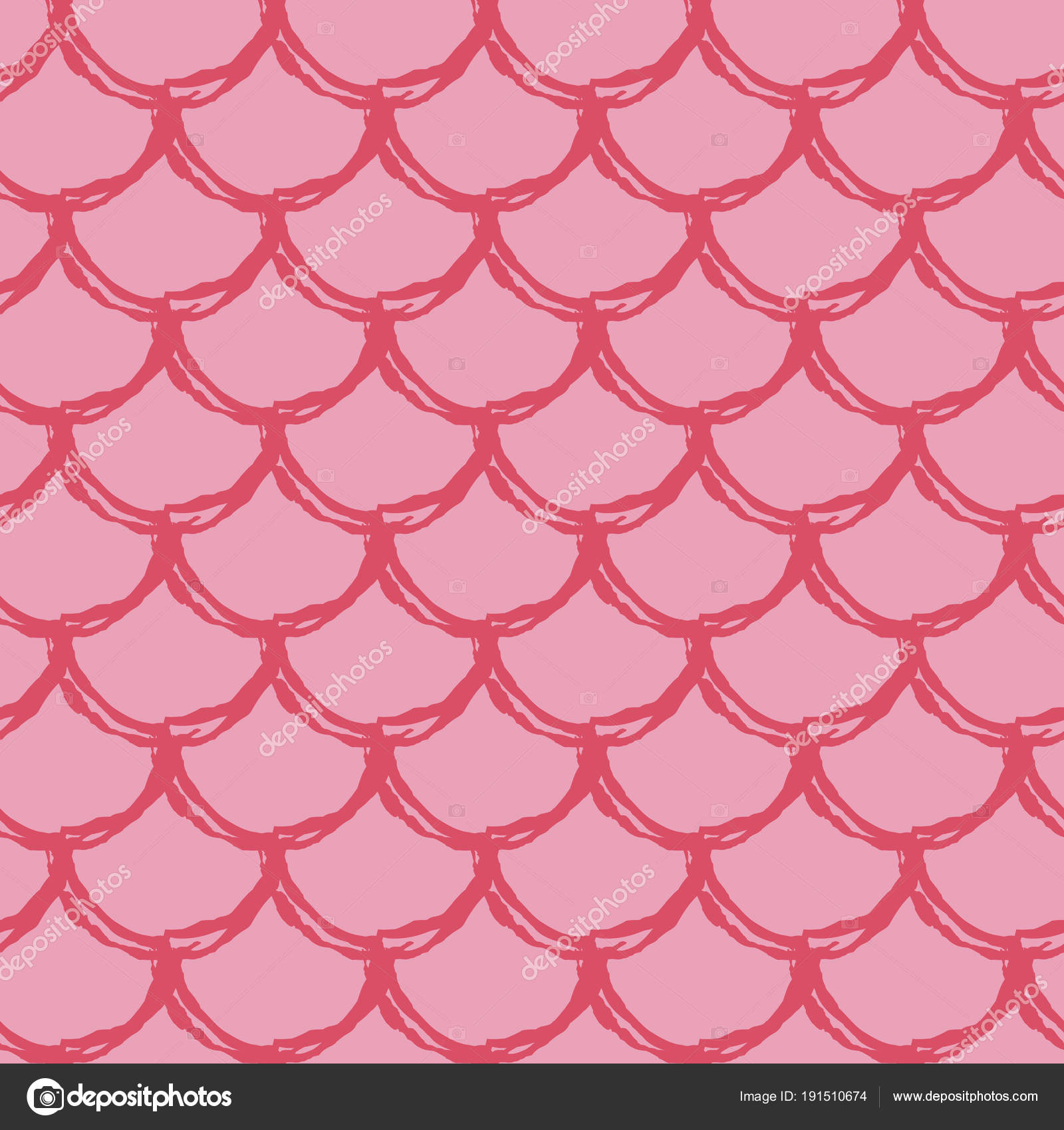 Tillable Background For Girl Fabric Textile Design Wrapping Paper Swimwear Or Wallpaper Blue Little Mermaid With Fish Scale