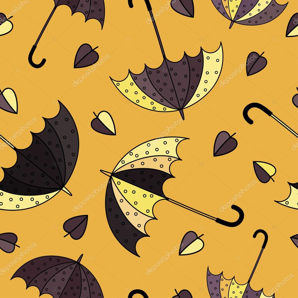 Umbrellas Seamless Pattern Colorful Vector Illustration Print Repeating Background Cloth Design