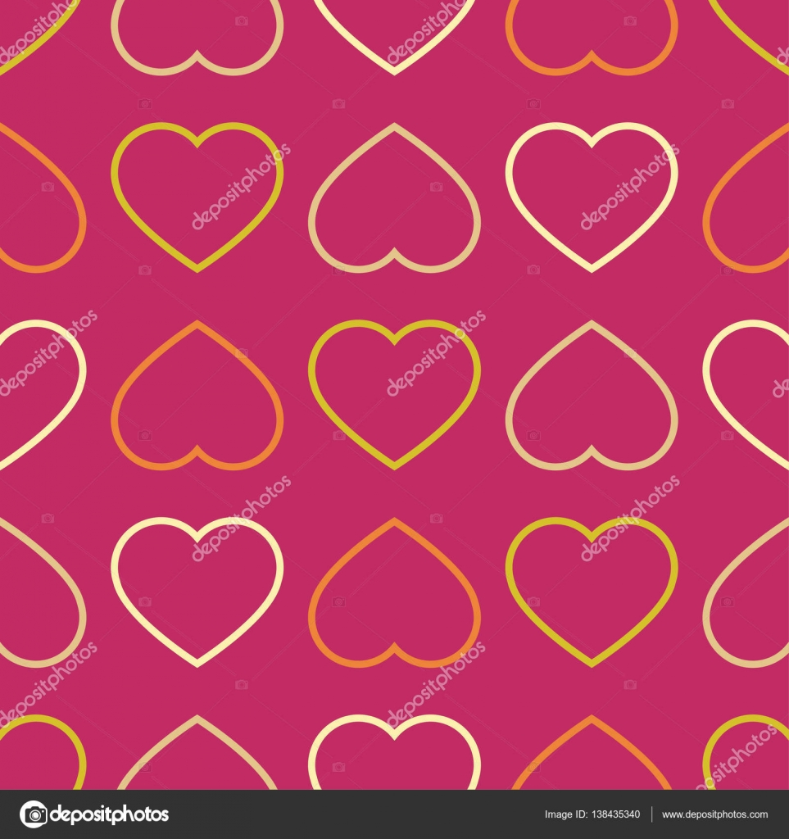 Nahtloser Vektor Hintergrund mit dekorativen Herzen. Zum ...