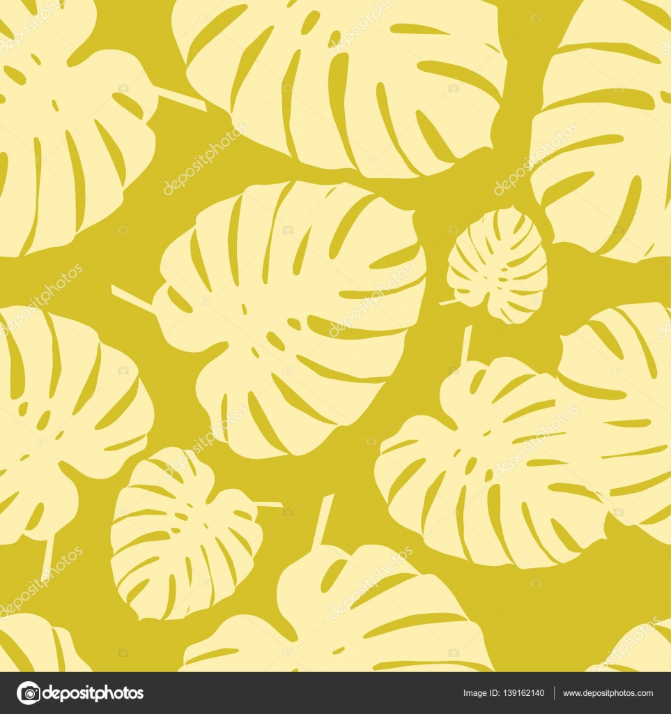Seamless vector background with decorative leaves. Palm leaves ...