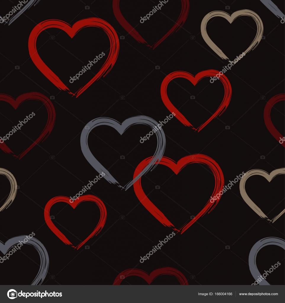 5f92dad373b832 De fundo vector sem costura com corações decorativos. Dia dos ...