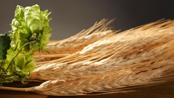 Hop Cones and Sheaf of Barley.