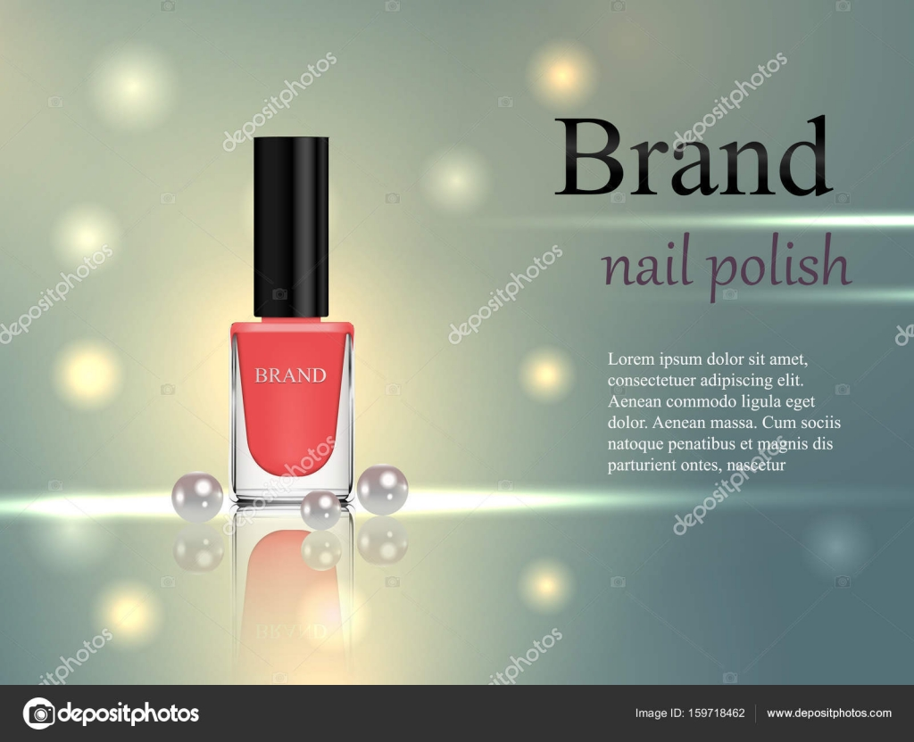 Diseño de uñas de cosmética, color beige con perlas sobre un suave ...