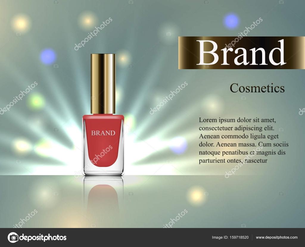 Diseño de uñas de cosmética, color beige con una tapa inclinada ...
