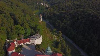 Pieskowa Skala Castle in beautiful surroundings, Krakow, Poland