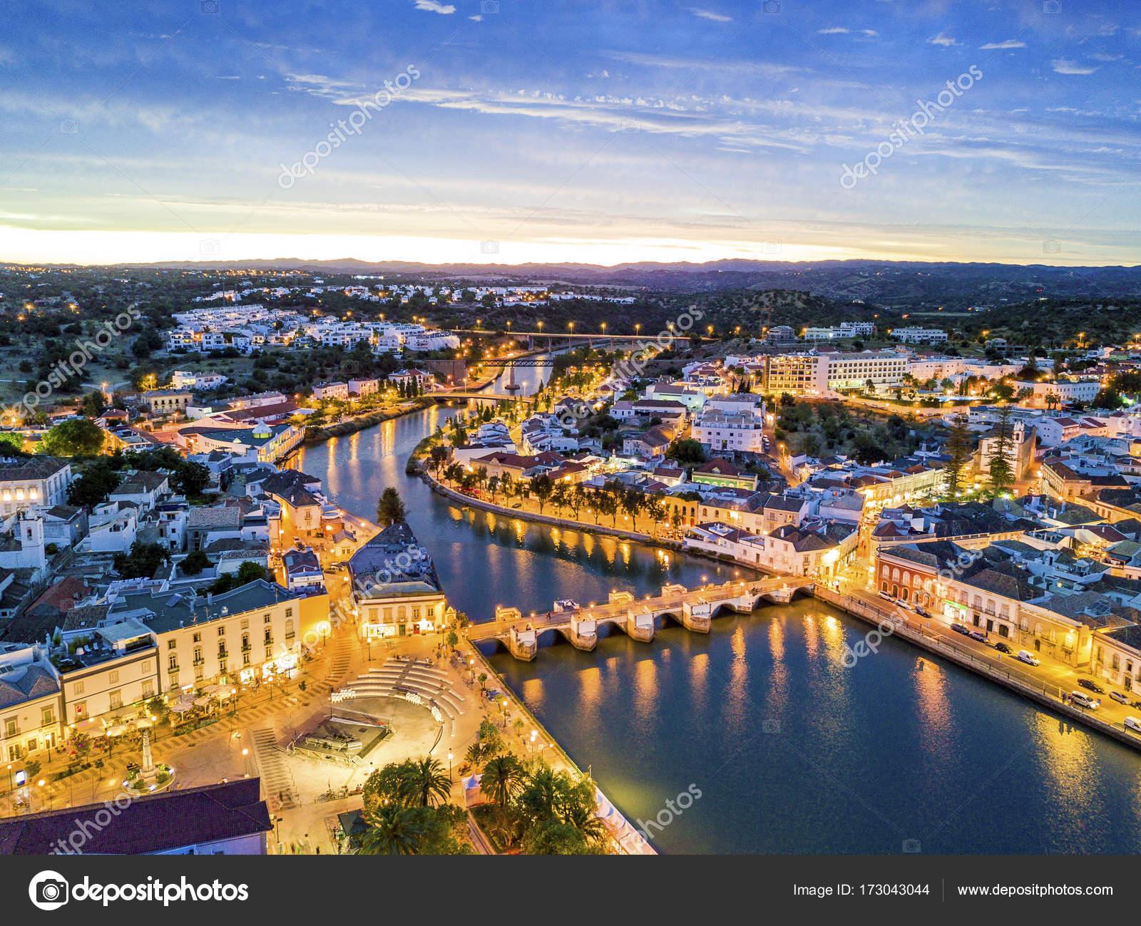 Fluss In Portugal schöne tavira gilao fluss algarve portugal stockfoto