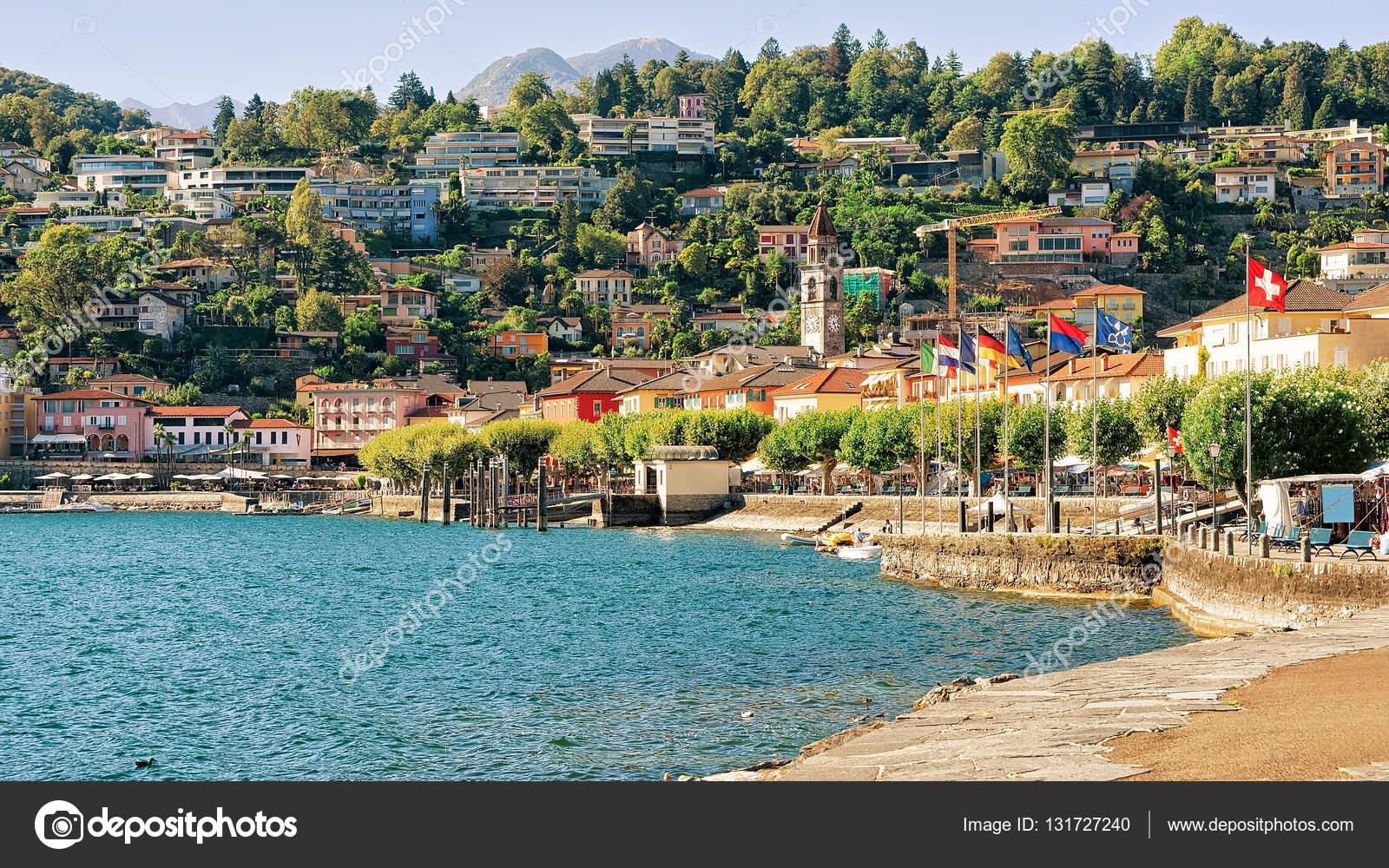 Обои Пейзаж, причалы, лодки, ticino, швейцария, дома, ascona, набережная. Города foto 15