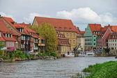 Fotografie Fischerhäuser über Regnitz River in Little Venice-Bamberg