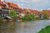 Fotografie Fischerhäuser über Regnitz River wenig Venedig Bamberg