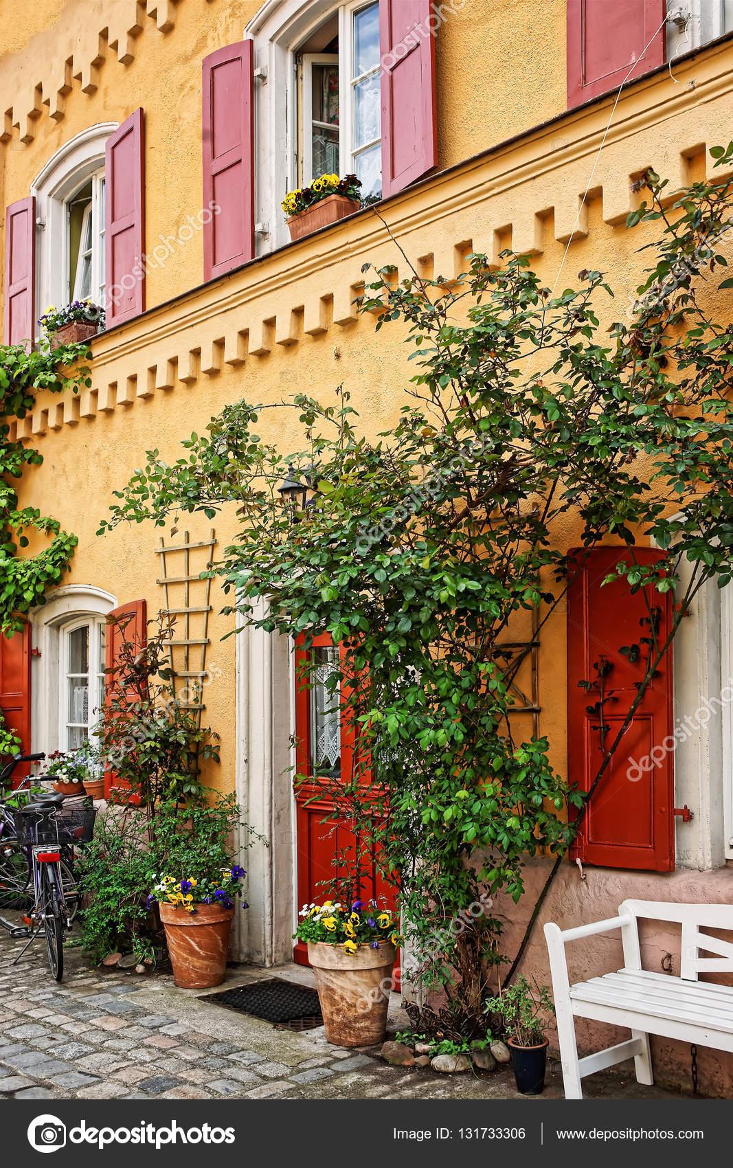 Pflanzen Dekoration des Hauses im Zentrum der Stadt alt Bamberg ...