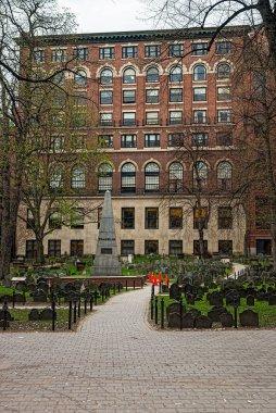 Granary Burying Ground in Tremont Street of Boston