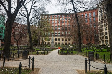 Granary Burying Ground in Tremont Street in Boston