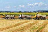 Nákladní automobily po tom zemědělské sezónní práce v oboru
