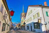 Fotografie Turm der Maria-Himmelfahrt-Himmelfahrt Tag Kirche von Garmisch Partenkirchen