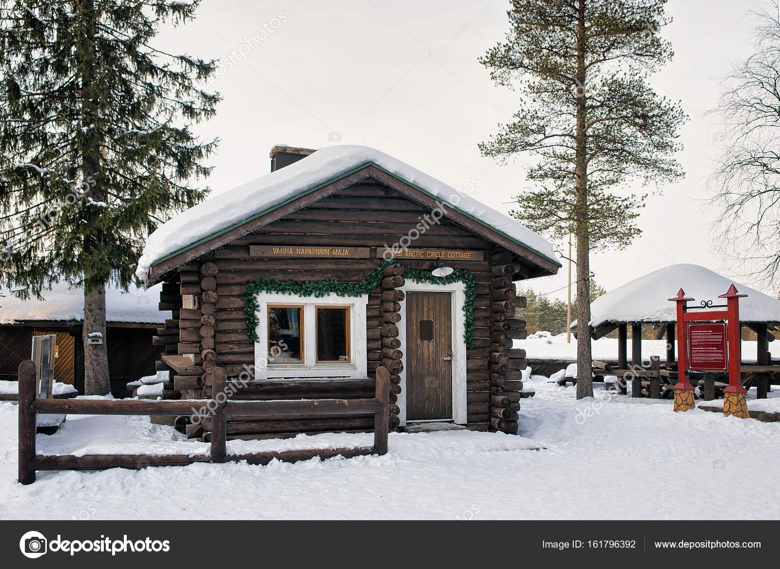 Lapponia Casa Di Babbo Natale Video.Casa Di Legno A Villaggio Di Babbo Natale In Lapponia Scandinavia