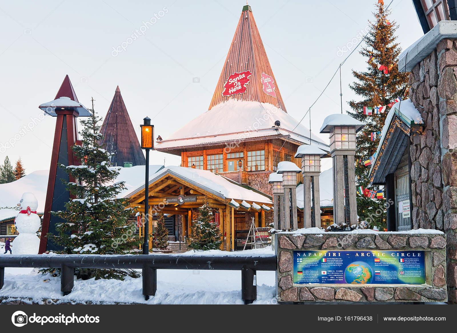 Villaggio Di Babbo Natale In Lapponia.Villaggio Di Babbo Natale In Lapponia Della Scandinavia