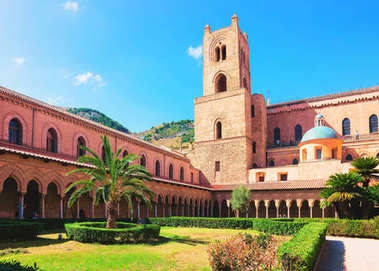 Garden at Monreale Cathedral in Sicily