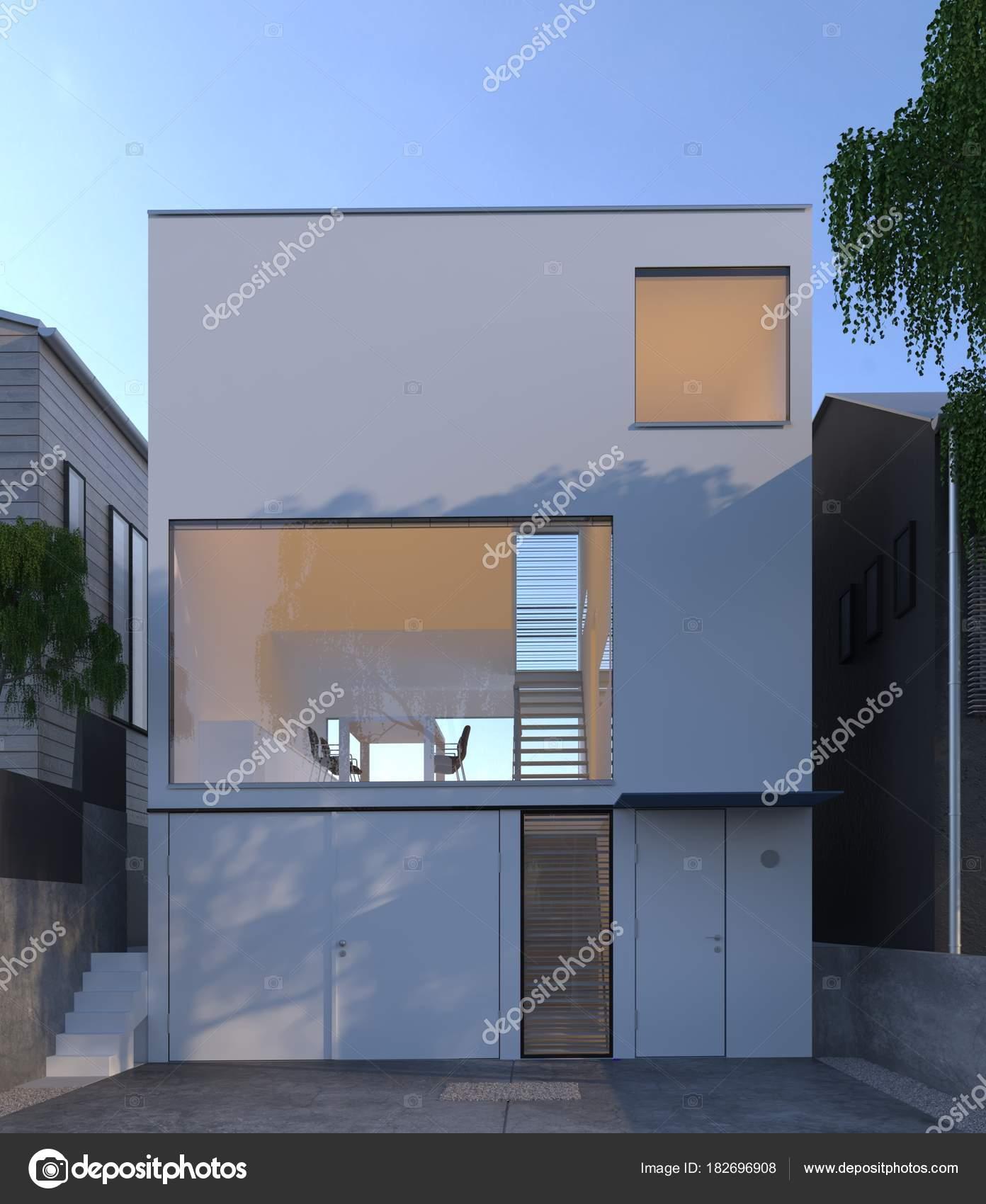 Japan House Minimal Architecture House Design Stock Photo C Golemi84 182696908