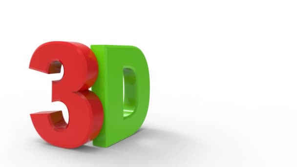 3D red green logo letters / Letters in motion