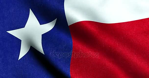 mává textilie textura vlajky modré a červené barvy národ Texasu, národ z usa