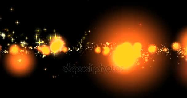 csillogó arany ragyogás csillagok bokeh farok átmenet szikrázó robbanás hatása a fekete háttér, holiday boldog új évet