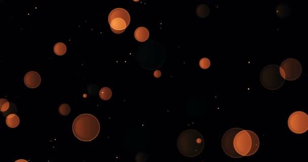 arany ragyogás áramló részecskéket a Inkjet fekete háttér, holiday boldog új évet