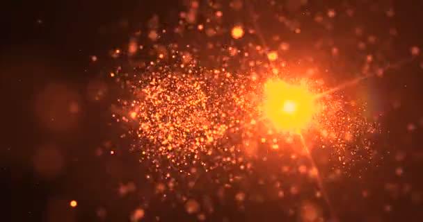 arany ragyogás csillogó részecskéket bokeh farok átmeneti szikrázó hatás a fekete háttér, holiday koncepció