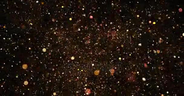 0c7c4eb8de9 Christmas glitter golden sparkle background with bokeh on black