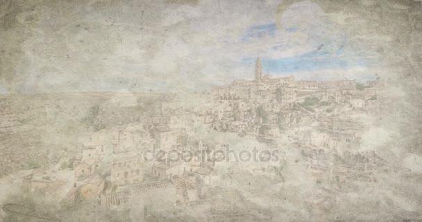 Vista Panoramica Di Pietre Tipiche Sassi Di Matera E Chiesa Di