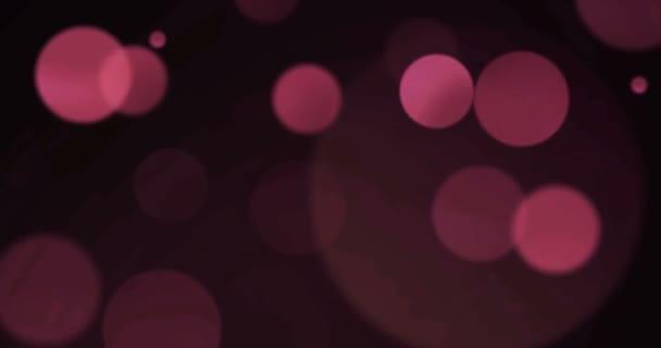 Lila fialové abstraktní bubliny částice bokeh na černém pozadí, události slavnostní šťastný nový rok