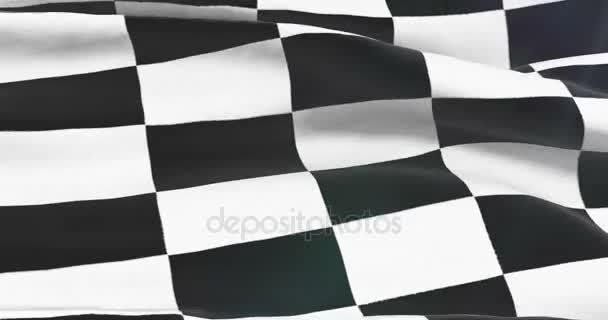 karierte Flagge, Rennende Hintergrund, Formel-1-Wettbewerb winkt am blauen Himmel