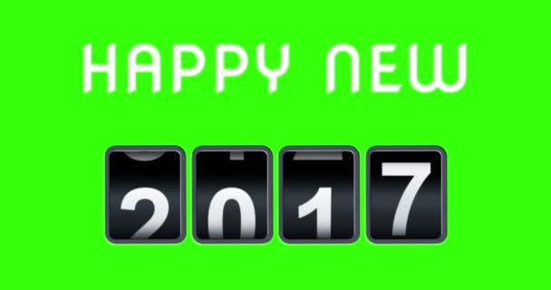 Zeer 2017 2018 gelukkig Nieuwjaar concept vintage analoge teller  AS02