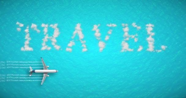 cestovní koncept napsané na tropické, Karibského moře s turistická letadla létají blízko dovolenou, abstraktní cestování pojetí času relax dovolená dovolená, rezervace