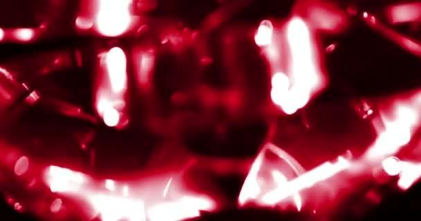 abstrakte runden roten Glanz Glitter Bokeh fließenden Bewegung auf ...