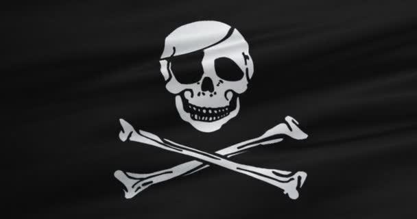 mává textilie textura mávat ve větru, symbol pirátský calico jack, hackerů a lupič pirátské vlajky