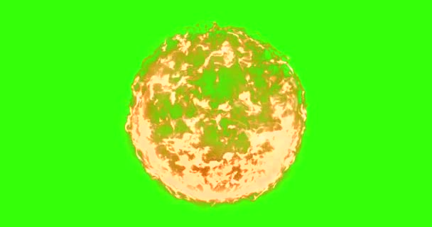 real, ball of flame fire in chroma key green screen background, dangerous flame concept