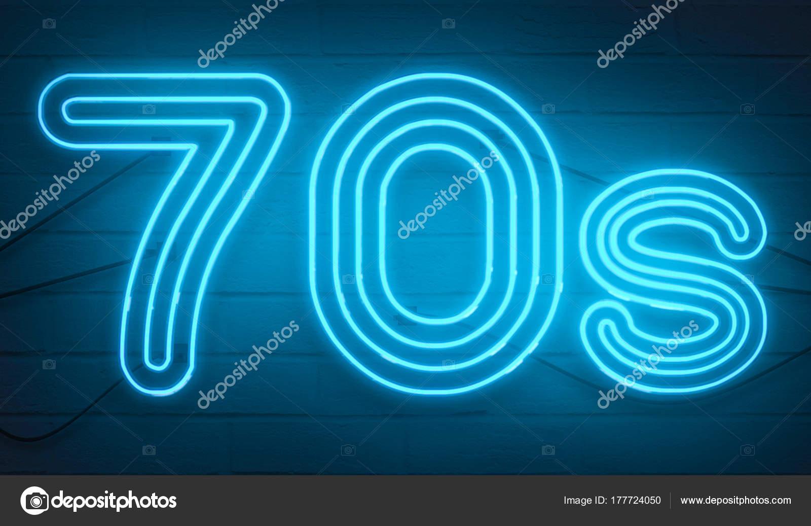 Leuchtende Farbe disco-dance 70er jahre neon zeichen leuchten logo text leuchtende