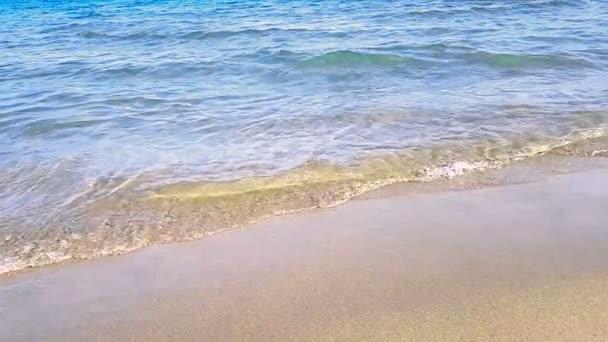 moře tropické karibské pláže se zlatým pískem, dovolená, zastřelených v pomalém pohybu, odpočinek a cestování koncept